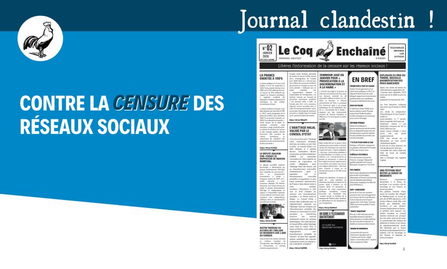 coq enchaîné -journal clandestin - gregory-roose-adoxa- contre la censure des réseaux sociaux-telecharger-gratuit