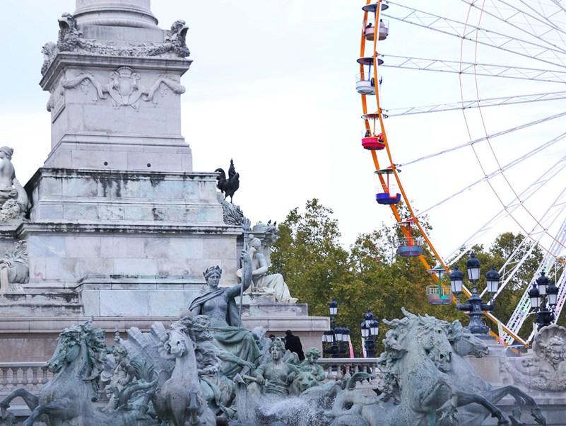 La granderoue et le monument des girondins
