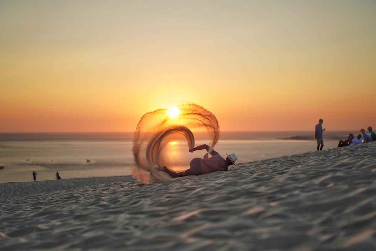 La dune et le soleil