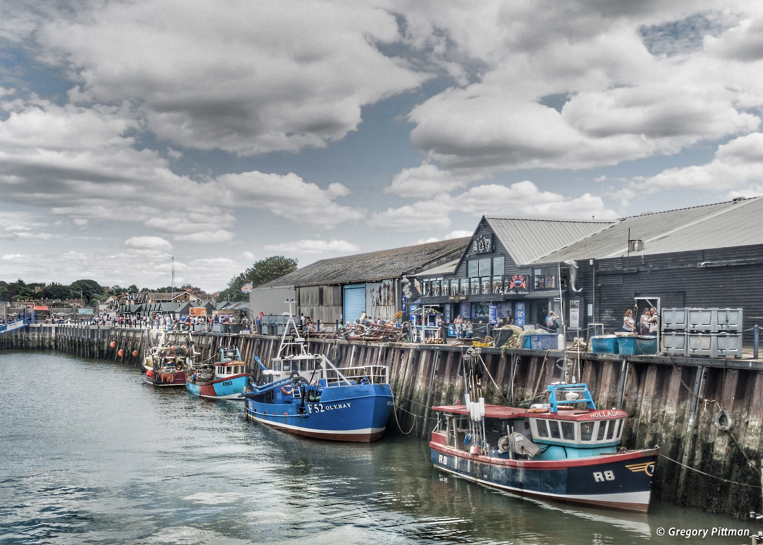 Fishing vessels in Whitstable Bay, England