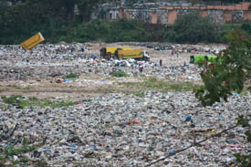 A view of the dump from the school/day care center.