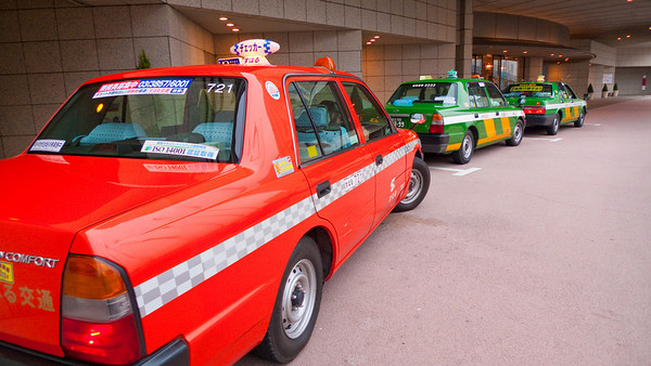 Colorful Tokyo Taxis