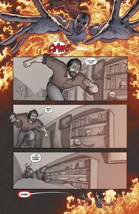 """A page from """"Action Comics"""" #38, art by Aaron Kuder, colors by Wil Quintana."""