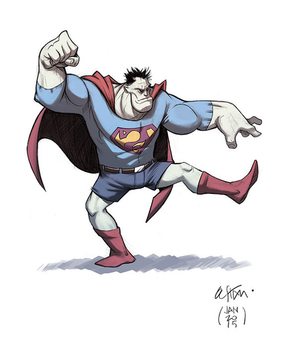 Concept art for the new BIZARRO series coming in June!