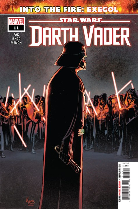 Darth Vader #11 cover. Line art by Aaron Kuder, colors by Richard Isanove.