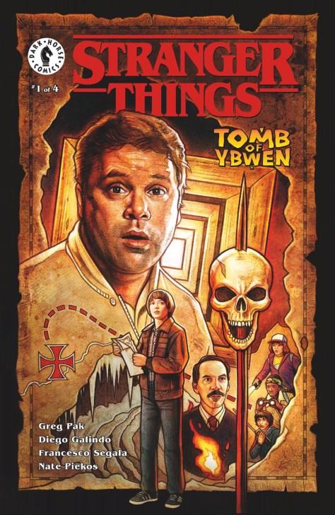 Kyle Lambert's variant cover for STRANGER THINGS: TOMB OF YBWEN #1