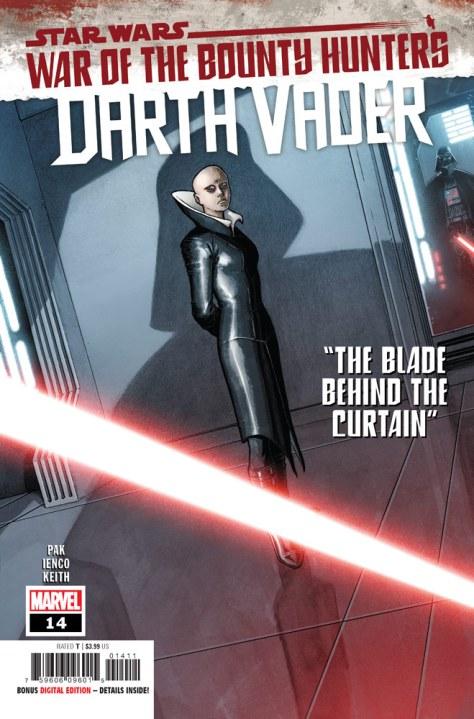 Darth Vader #14 cover by Aaron Kuder and Richard Isanov