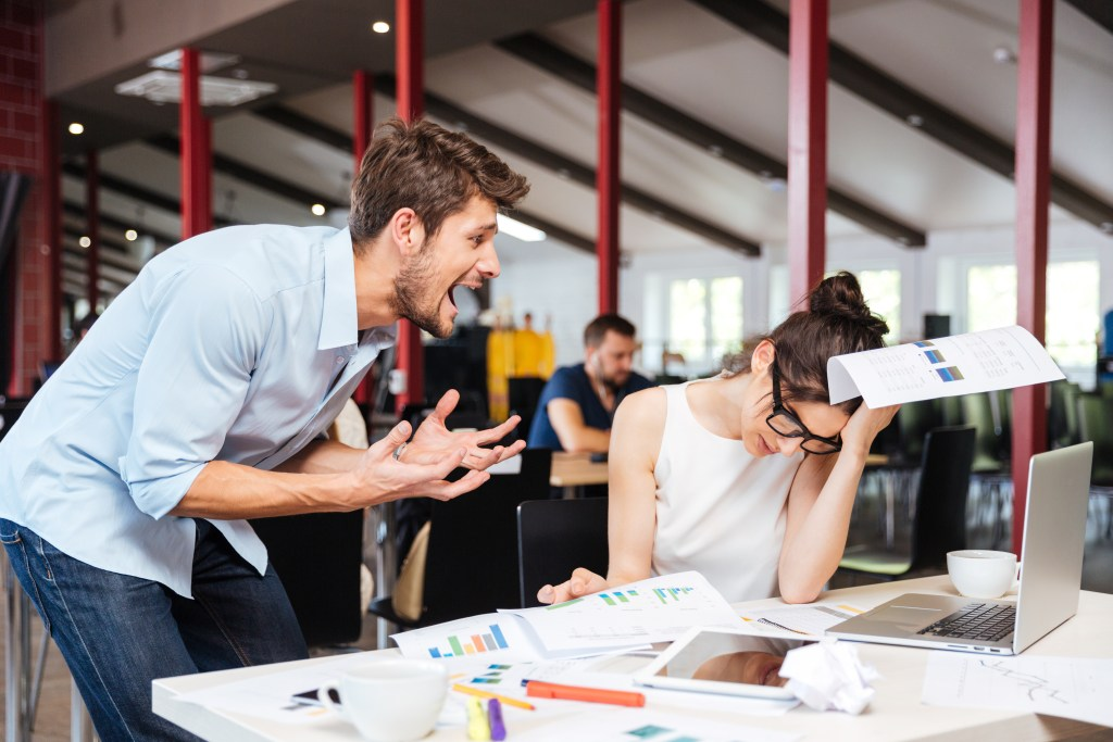 A workplace bully is a chronic problem for the boss to solve