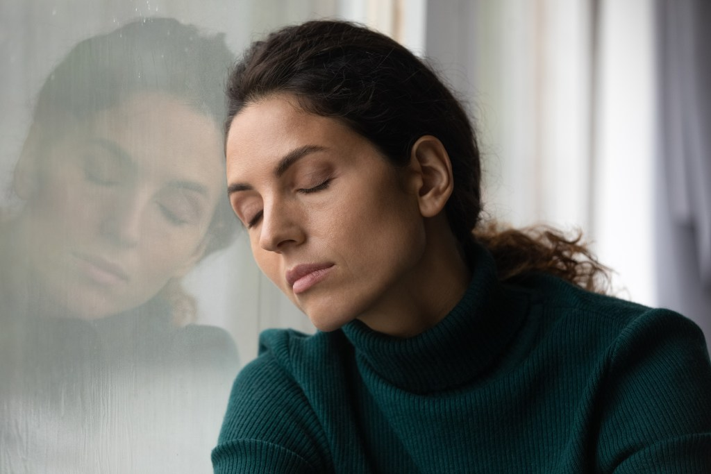 This woman feels bad. Is she lonely, stressed, tired, overwhelmed, or depressed? We would have to go granular to find out.