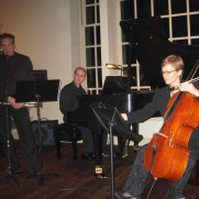 Trumpeter Chris Gekker, cellist Michelle Djokic, and Greg presented a recital for the Concordia Chamber Players Concert Series in 2008.