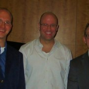 Greg joined saxophonist Tim Powell (center) and bassist Kevin Pace (right) playing at a reception celebrating the 2012 National Orchestral Institute.
