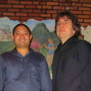 Joining Jazz One, Greg performed on a concert of music by contemporary composers at Germano's Trattoria in the fall of 2012. (left to right; Tim Powell [sax], Nucleo Vega [drums], Phil Ravita [bass], Greg Small [piano]