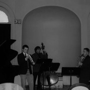 In 2014, Greg performed with Jazz One for a tribute honoring the legendary Jazz at Massey Hall concert from 1953. (left to right; Greg Small [piano], Ben Lostocco [trumpet], Phil Ravita [bass], Brian Perez [sax], Nucleo Vega [drums])