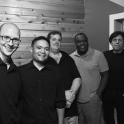 In the late summer of 2019, Greg joined the Ravita-Grasso Band on a debut recording of all original music at Wright Way Studios. (left to right; Greg Small [piano], Nucleo Vega [drums], Skip Grasso [guitar], Benny Russell [sax], Phil Ravita [bass]