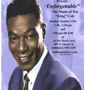 "The Phil Ravita Jazz Group (Deirdre Jennings [vocals], Greg Small [piano], Phil Ravita [bass], Nucleo Vega [drums] performed a tribute to the legendary Nat ""King"" Cole in October of 2019."