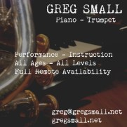 A promotional flyer Greg released in the fall of 2020.