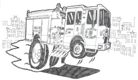 Cartoon Hot Rod Trucks Drawings Sketch Coloring Page