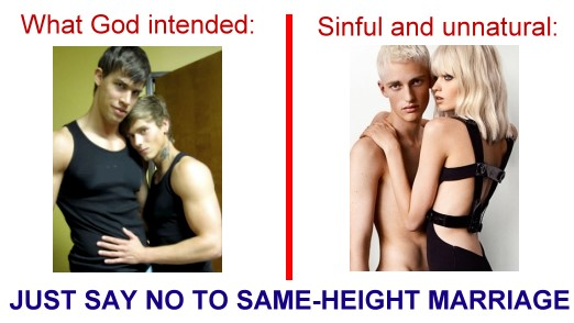 Say NO to Same-Height Marriage