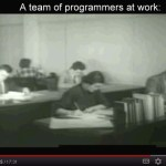 A team of programmers at work.