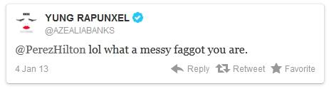 Perez Hilton is a Faggot Tweet 1