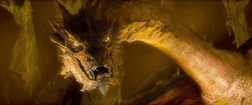 """Smaug, as depicted in'THE HOBBIT: THE DESOLATION OF SMAUG"""" a New Line Cinema and MGM production. Photo courtesy of Warner Bros. Pictures"""