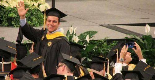 Osama's graduation picture