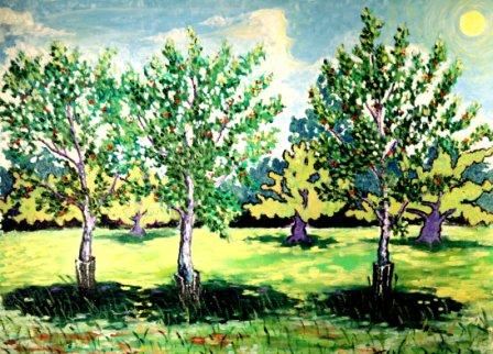 Cherry Trees (Oil)