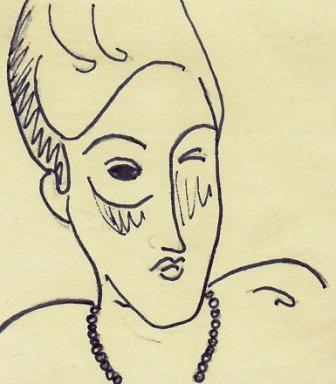Man Squinting Sketch