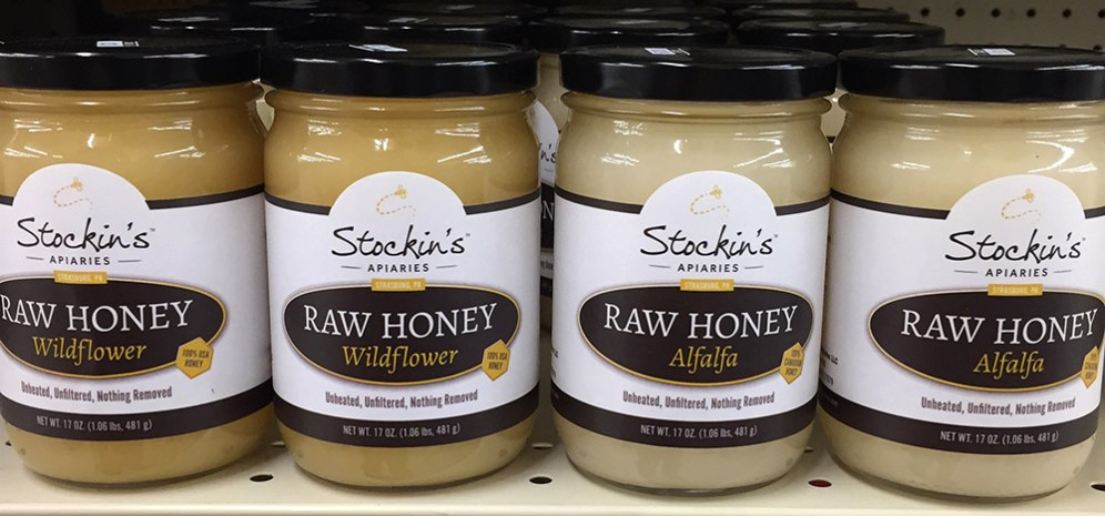 Stockins Raw Honey on a store shelf