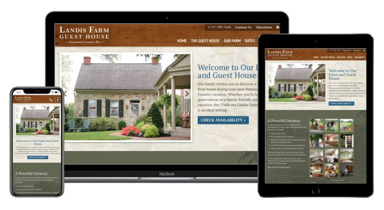 Landis Farm Website design