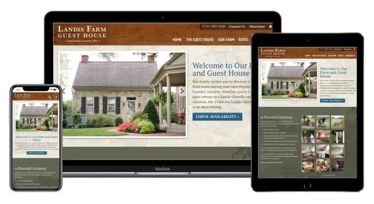 Landis Farm Website design