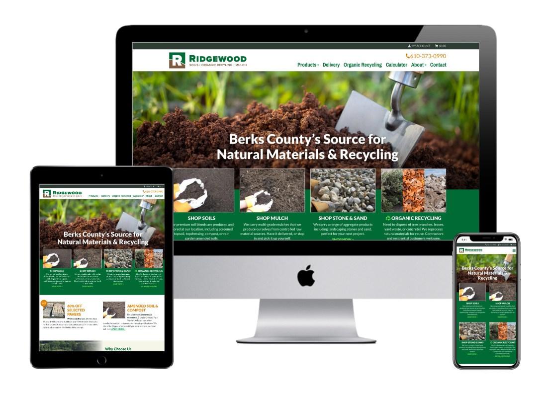 Ridgewood website on different devices