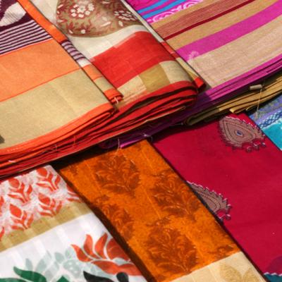 multi coloured saree Trend