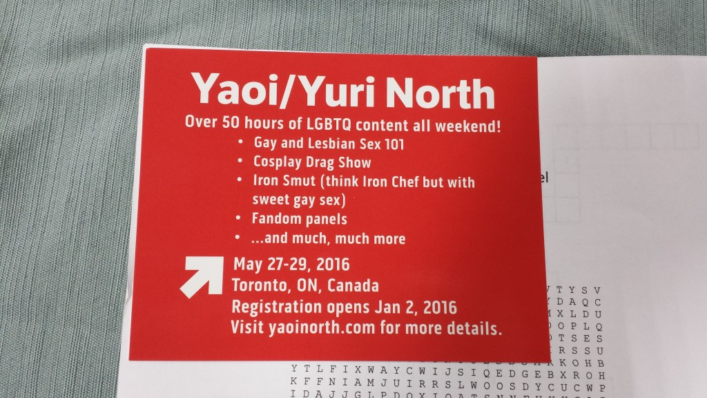 Nijicon 2015 Vendors--Yaoi North