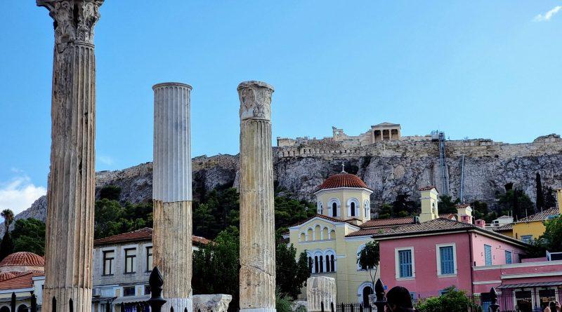 Akropolisklippan i Aten.