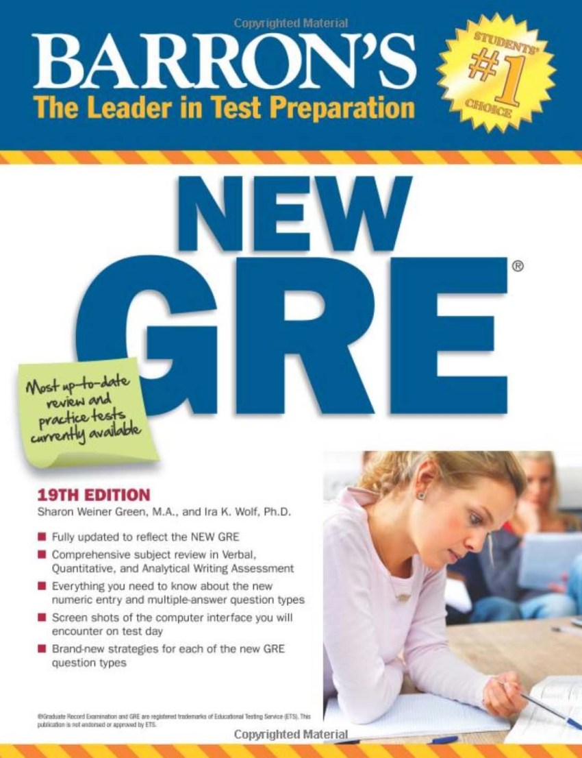 Barron's New GRE, 19th Edition (Barron's GRE) 19th Edition