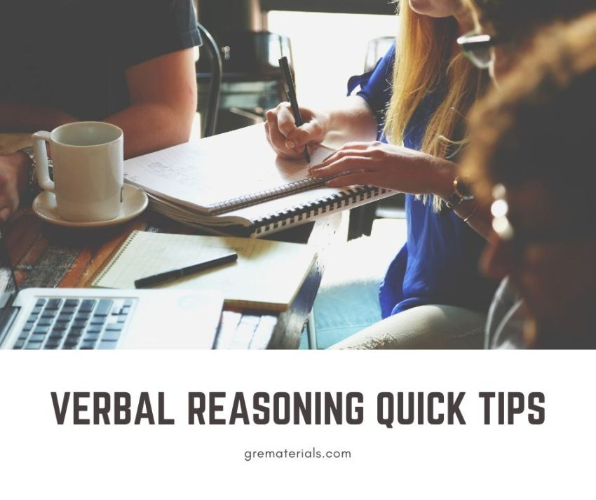 VERBAL REASONING QUICK TIPS