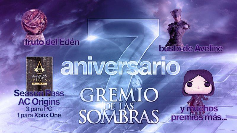 Sorteo 7º aniversario de Gremio de las Sombras