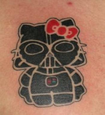 Darth vader/Hello Kitty Tattoo