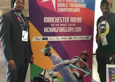 World Taekwondo Championships, Manchester, England - Fronzie and Rowan