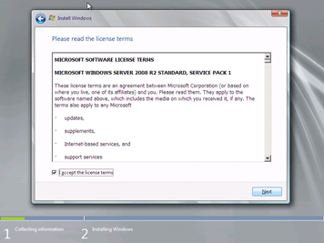 Instalación de Windows Server 2008 R2 with Service Pack 1 (5/6)