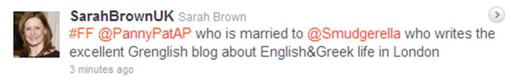 Sarah Brown tweet 2