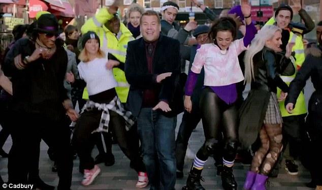 Sponsored Video: James Corden Dances in the Street & Lip-Syncs to Estelle's Free
