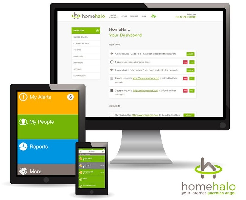 HomeHalo: Restricting internet time and content for 6-11 year olds