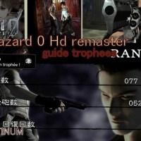 [Guide trophees] Biohazard Zero; resident evil Zero