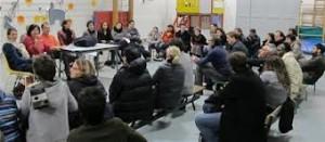 Juste avant les municipales, E.Piolle et M.Jactat ( désormais Adjointe au maire) avaient organisé la contestation à l'école Jean Jaurès ou ils sont parents d'élèves: la question de l'étroitesse des locaux a disparu depuis qu'ils sont élus! (photo DL)