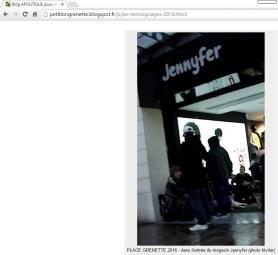 le squat jusque dans les commerces (pétition grenette, page témoignages 2016)