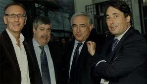 L'affaire DSK à Grenoble citée par R.Bacqué ( Le Monde) dans son livre avait été elle aussi passée sous silence à Grenoble ( photo ( Vallini, Giraud, DSK, Destot)