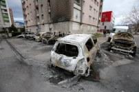voitures brûlées