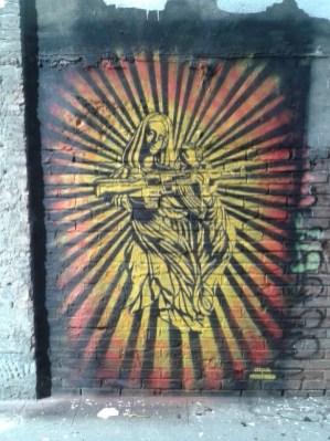 Comme chacun sait la religion catholique est la plus menaçante...( rue du Phalanstère)